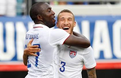 Jozy Altidore and Fabian Johnson connected for Altidore's first goal since Dec. 4. (Reuters)