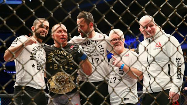 Georges St-Pierre admitted he is no natural middleweight, but a stint at 185lbs looms after beating Michael Bisping for the belt at UFC 217.