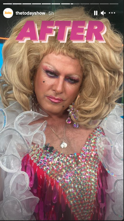 Karl Stefanovic in drag on the Today show