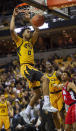 Missouri's Torrence Watson dunks the ball during the second half of an NCAA college basketball game against Mississippi Saturday, March 9, 2019, in Columbia, Mo. Mississippi won the game 73-68. (AP Photo/L.G. Patterson)