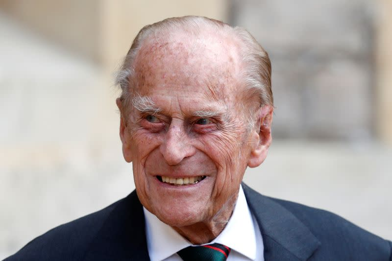 Britain's Prince Philip stepping down from his role as Colonel-in-Chief for the Rifles in Windsor