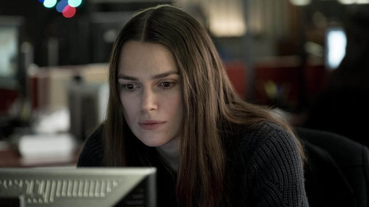 Keira Knightley plays GCHQ whistleblower Katharine Gun in political thriller 'Official Secrets'. (Credit: eOne/Nick Wall)