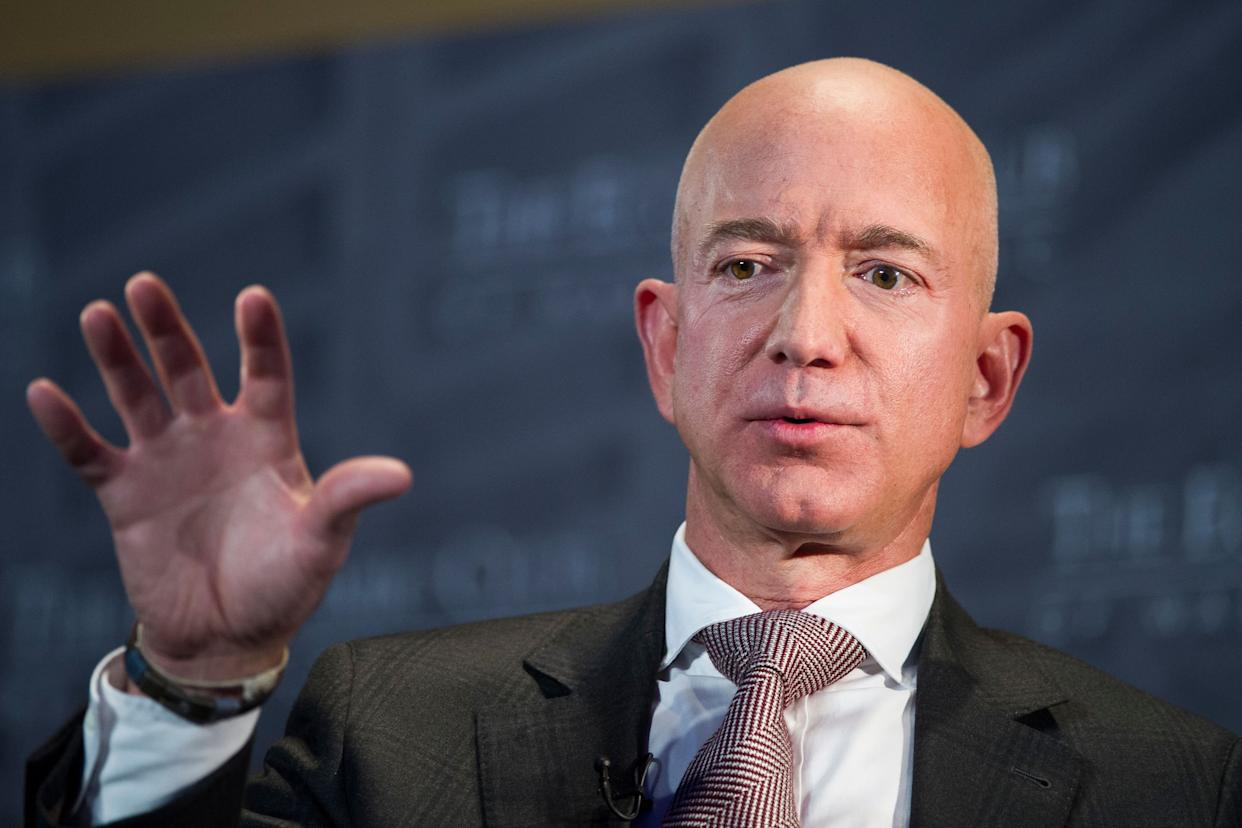 Jeff Bezos, Amazon founder and CEO, speaks at the Economic Club of Washington on Sept. 13, 2018. Elected officials in New York City signed a letter in 2017 inviting Bezos and Amazon to the city. (Photo: THE ASSOCIATED PRESS)