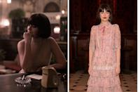 <p>The British actress (whom you know from <em>Roadkill</em> and <em>Pride and Prejudice and Zombies</em>) could have fooled us in her role as the slick Parisian Cleo, one of the only other women Beth meets in the boys-club chess world. The two have their first encounter in New York, but later cross paths in Europe, where Beth is tempted to enjoy some of the spoils of her stunning success.</p>