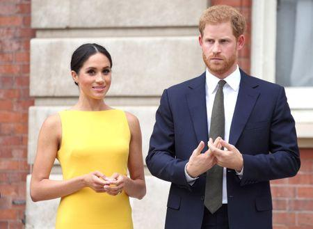 The Duke and Duchess of Sussex attend the Your Commonwealth Youth Challenge reception at Marlborough House in London, Britain July 5, 2018. Yui Mok/Pool via Reuters