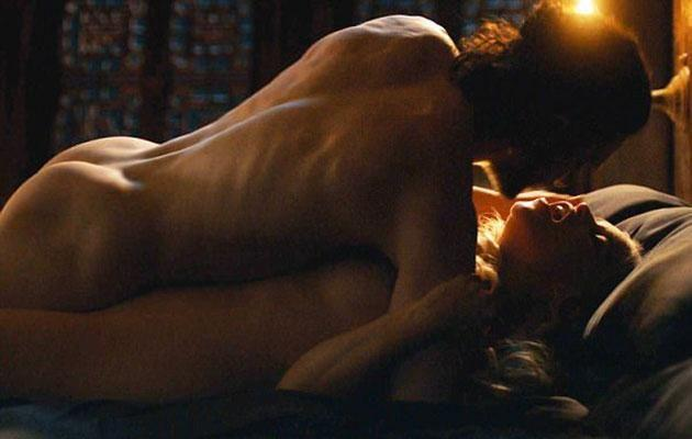 Jon and Dany finally got hot and heavy. Source: HBO