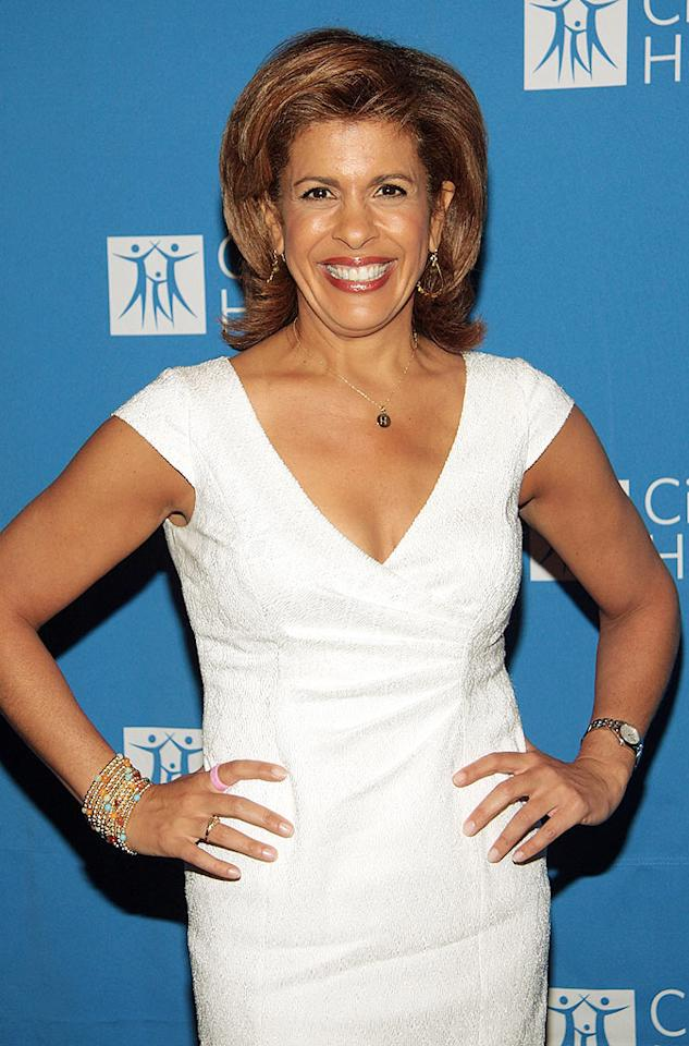 """""""Today"""" co-host Hoda Kotb was happy she could use her morning talk show to bring awareness to the horrible disease that hit her in 2006. Kotb allowed """"Today's"""" cameras to follow her throughout her cancer ordeal (she had a mastectomy and reconstructive surgery). Once she was cancer-free, her story was documented on the show. Janette Pellegrini/<a href=""""http://www.wireimage.com"""" target=""""new"""">WireImage.com</a> - May 4, 2009"""