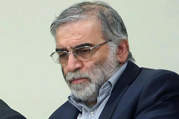 Nuclear scientist Mohsen Fakhrizadeh, shown here in a picture provided by the supreme leader's website, was assassinated outside Tehran on Friday