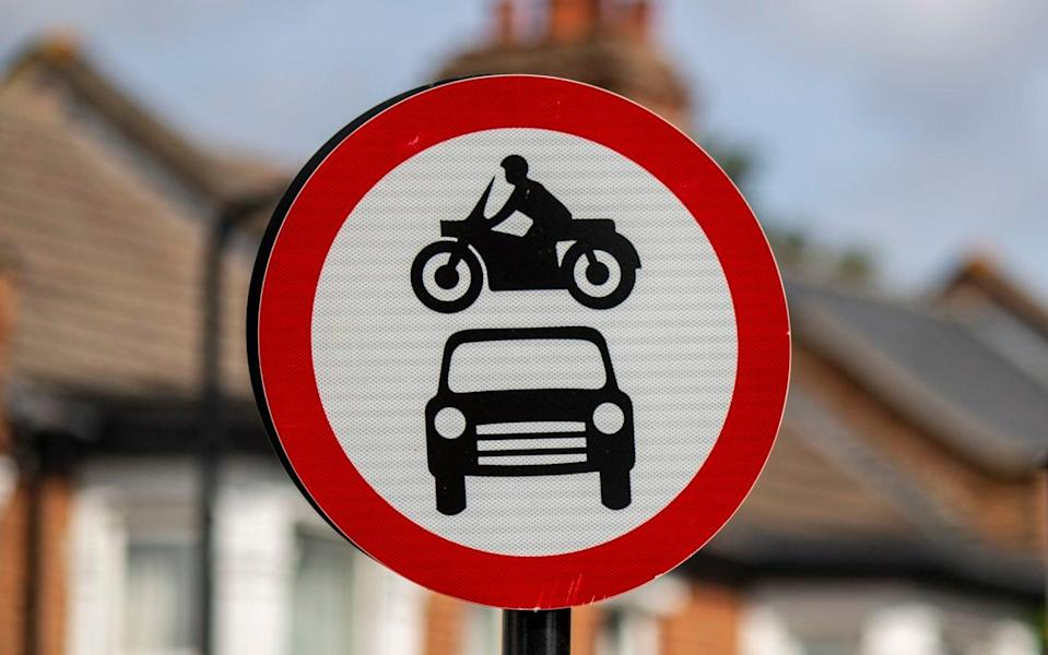 The Low Traffic Neighbourhoods were introduced in August as part of the Government's plan to promote walking and cycling after lockdown - Heathcliff O'Malley