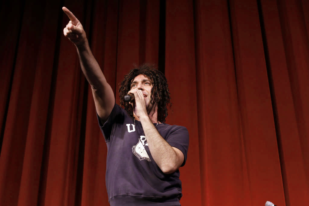 "Cast member John Roberts performs during ""Bob's Burgers Live!""  at the WIlshire Ebell Theatre on Tuesday, May 7 in Los Angeles, CA."