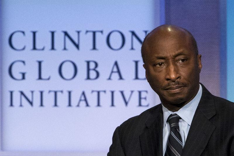 FILE PHOTO - Chairman and CEO of Merck & Co., Kenneth Frazier, takes part in a panel discussion during the Clinton Global Initiative's annual meeting in New York