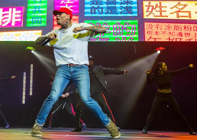 Chris Brown performs during the Big Show at Little Caesars Arena on Dec. 28, 2017, in Detroit. (Photo: Scott Legato/Getty Images)
