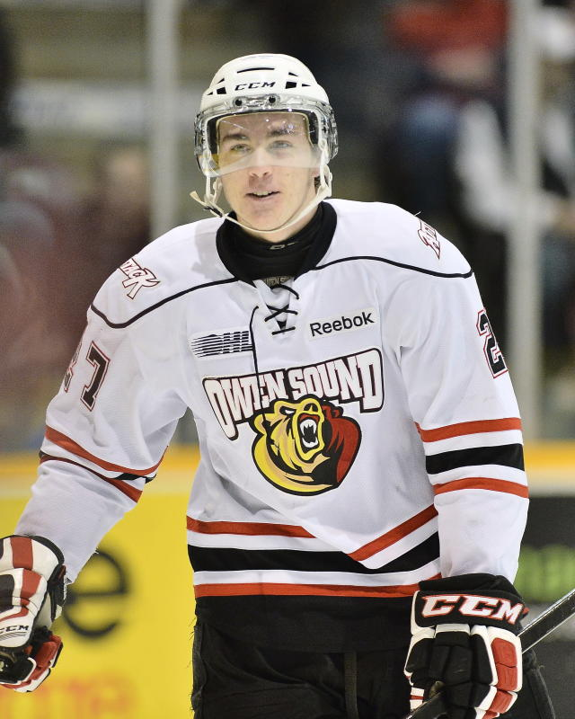 Zach Nastasiuk of the Owen Sound Attack