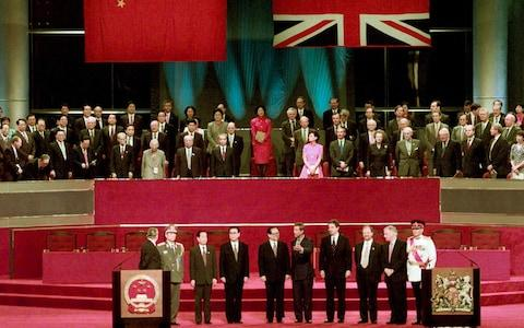 <span>Hong Kong was returned to Chinese sovereignty in 1997, ending 156 years of British rule</span> <span>Credit: Jason Reed REUTERS </span>
