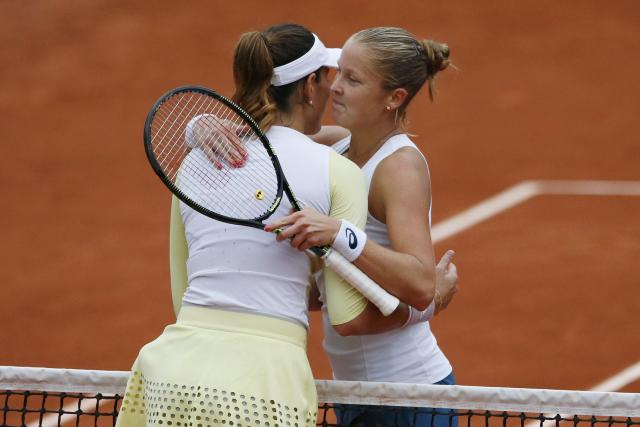 Shelby Rogers had a great run in Paris, but it ended Wednesday. (REUTERS/Pascal Rossignol)