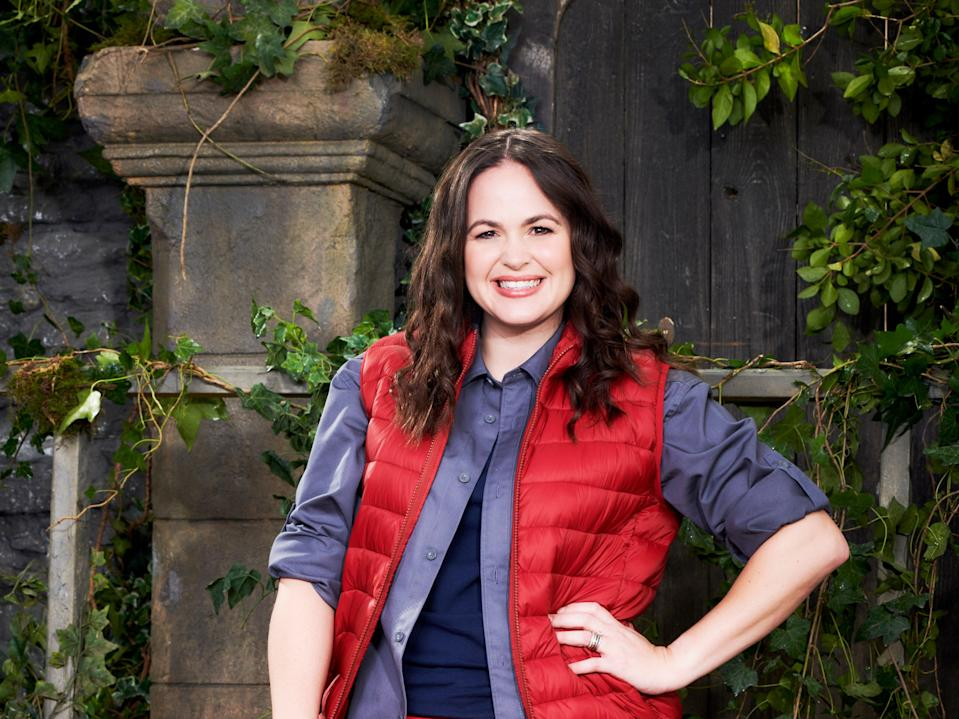 Giovanna Fletcher poses for a promo image for I'm a Celebrity... Get Me Out of Here! (ITV)