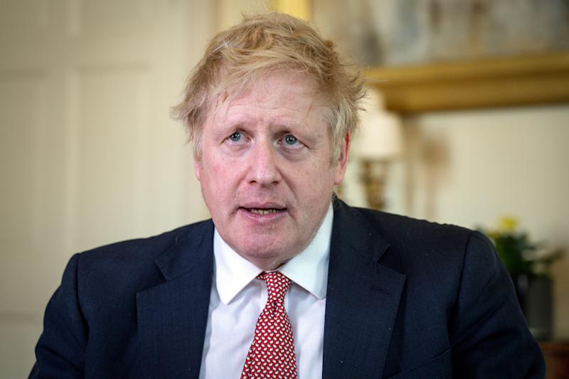 Prime Minister Boris Johnson thanks the NHS in a video message on Easter Sunday, in 10 Downing Street, London, Britain, April 12, 2020. Pippa Fowles/No 10 Downing Street/Handout via REUTERS THIS IMAGE HAS BEEN SUPPLIED BY A THIRD PARTY. NO RESALES. NO ARCHIVES. THIS IMAGE IS FOR EDITORIAL USE PURPOSES ONLY. THE IMAGE CAN NOT BE USED FOR ADVERTISING OR COMMERCIAL USE. THE IMAGE CAN NOT BE ALTERED IN ANY FORM.