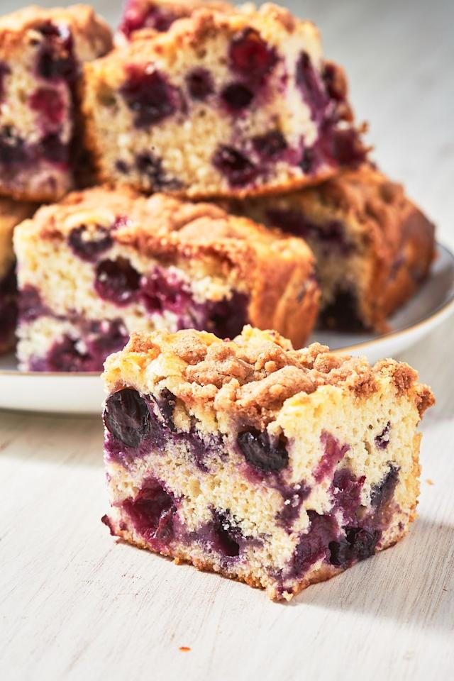"""<p>That crumble topping tho. </p><p>Get the recipe from <a href=""""https://www.delish.com/cooking/recipe-ideas/a27920478/blueberry-buckle-recipe/"""" target=""""_blank"""">Delish</a>.</p>"""