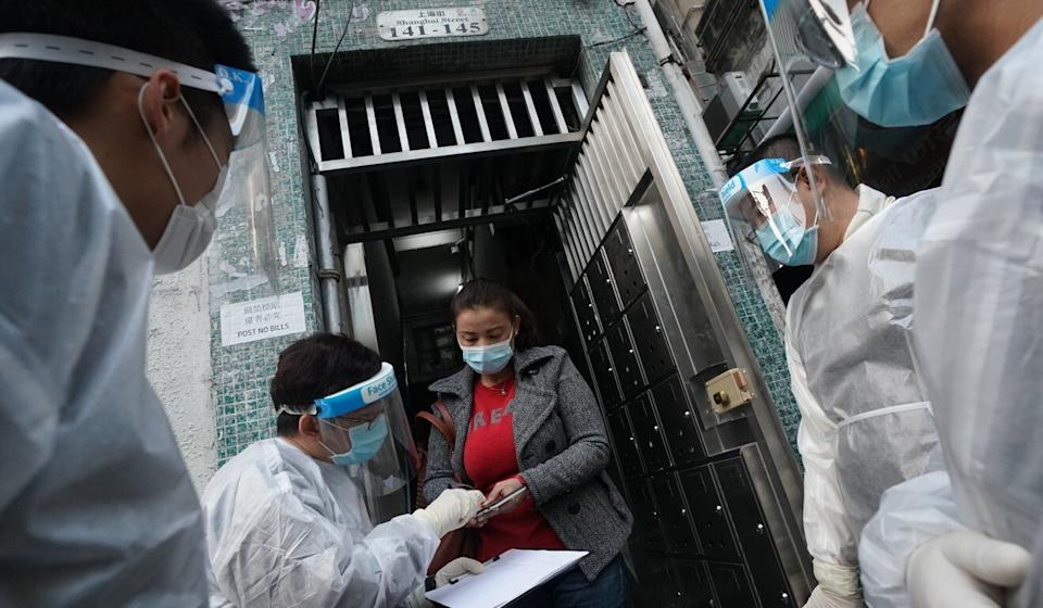 More than 7,000 Yau Tsim Mong residents were screened and 13 coronavirus infections detected during the lockdown. Photo: Felix Wong