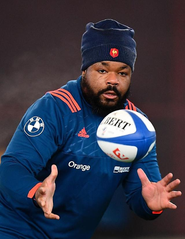 France have recalled Mathieu Bastareaud to their lineup for the Six Nations match against Italy on Friday (AFP Photo/FRANCK FIFE)