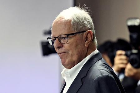 FILE PHOTO: Peru's former President Pedro Pablo Kuczynski is seen at a court, after his arrest as part of an investigation into money laundering, in Lima, Peru April 16, 2019. Picture taken April 16, 2019. REUTERS/Guadalupe Pardo