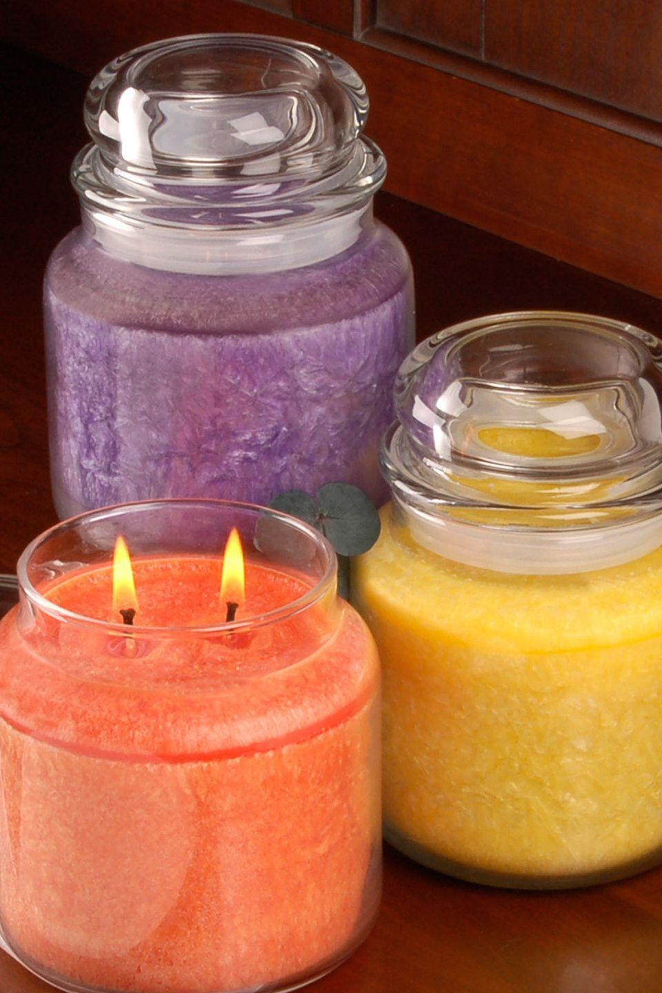 "<p>Donate or pass the candle you were gifted in a scent you can't stand to a friend who <em>does </em>love it if it's still new, or toss it if it looks like it was found in the Haunted Mansion.</p><p> <a class=""link rapid-noclick-resp"" href=""https://www.amazon.com/NEST-Fragrances-Luxury-Votive-Candle/dp/B01FRKPB2Y/ref=sr_1_7?tag=syn-yahoo-20&ascsubtag=%5Bartid%7C10070.g.30809532%5Bsrc%7Cyahoo-us"" rel=""nofollow noopener"" target=""_blank"" data-ylk=""slk:SHOP NEW CANDLES"">SHOP NEW CANDLES</a></p>"