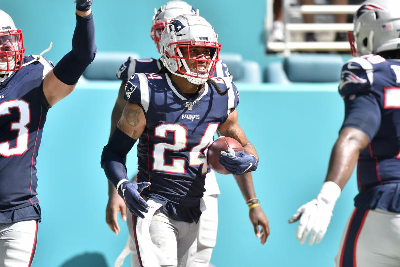 Stephon Gilmore #24 of the New England Patriots