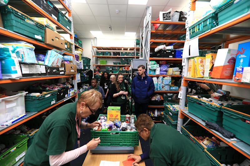 TOTTENHAM, ENGLAND - DECEMBER 19: Jan Vertonghen Visits Local Foodbanks on December 19, 2019 in Tottenham, England. (Photo by Tottenham Hotspur FC/Tottenham Hotspur FC via Getty Images)