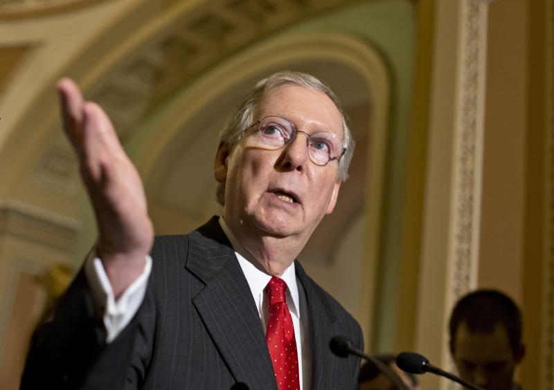 Conservative group presses McConnell on health law
