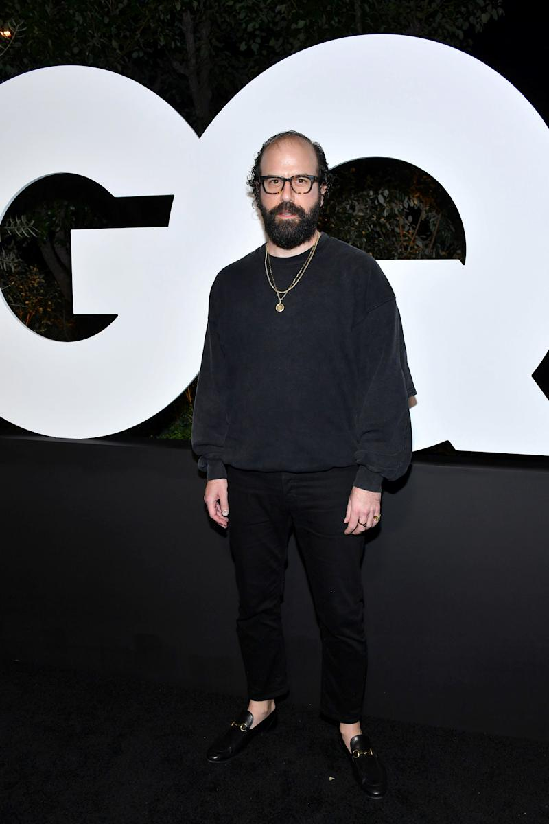Gelman (and chains) at GQ's Men of the Year party in December.
