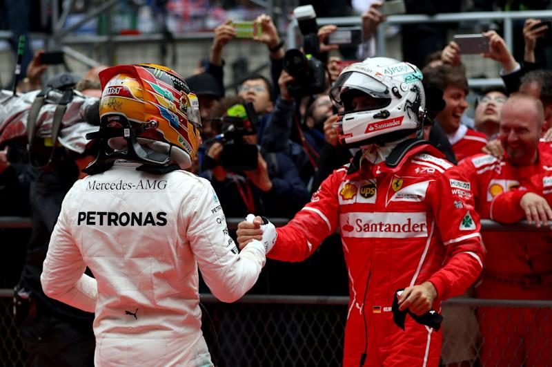 Lewis Hamilton and Sebastian Vettel were the top two in China.