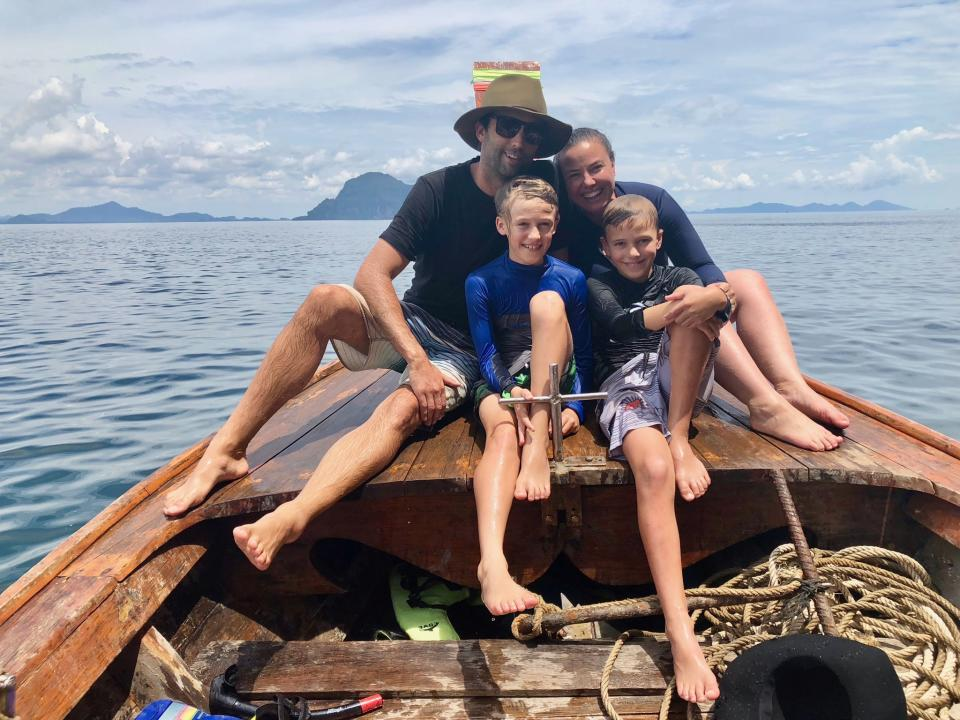 Pictured: Tutoring revolutionary Tina Tower and her family on holiday. Image: Supplied