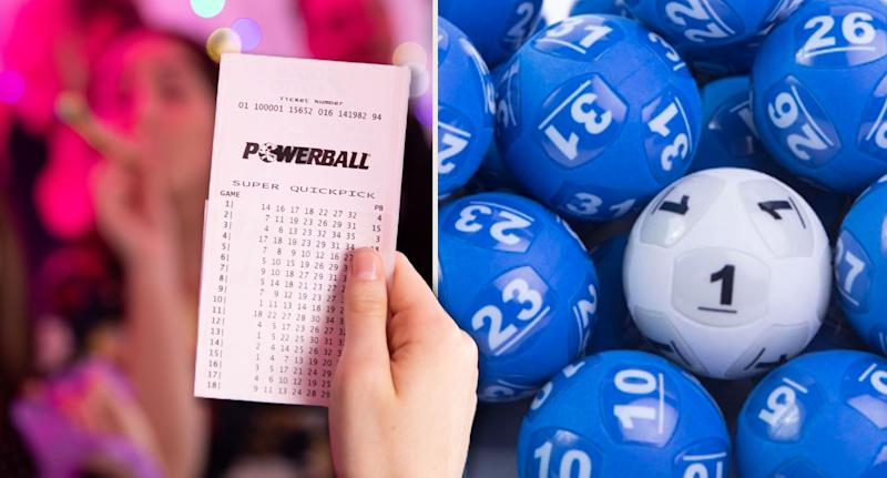 The Powerball winner, from Queensland, took home $24.3 million in winnings. Pictured left is a stock image of Powerball ticket and on the right are lottery balls.