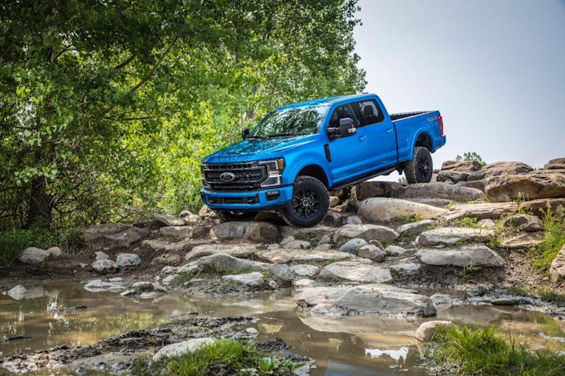 The 2020 Ford F-series Super Duty pickup with Tremor Off-Road package.