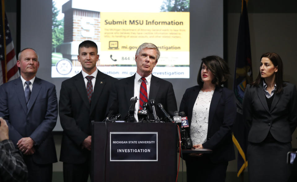 Special Prosecutor Bill Forsyth, released findings from the state's investigation into Michigan State University. (AP)