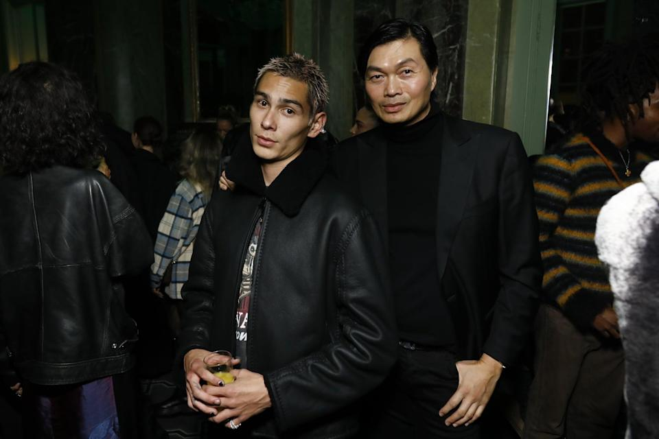 <p>Evan wrapped his Fashion Month at the Croc Boyz PFW closing party on Oct. 5.</p>