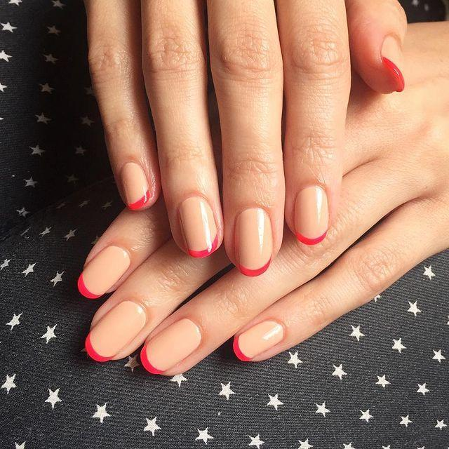 "<p>Give the classic French mani a Valentine's Day overhaul with nude nails and romantic red tips.</p><p><a href=""https://www.instagram.com/p/BUzR0iEDxyv"" rel=""nofollow noopener"" target=""_blank"" data-ylk=""slk:See the original post on Instagram"" class=""link rapid-noclick-resp"">See the original post on Instagram</a></p>"