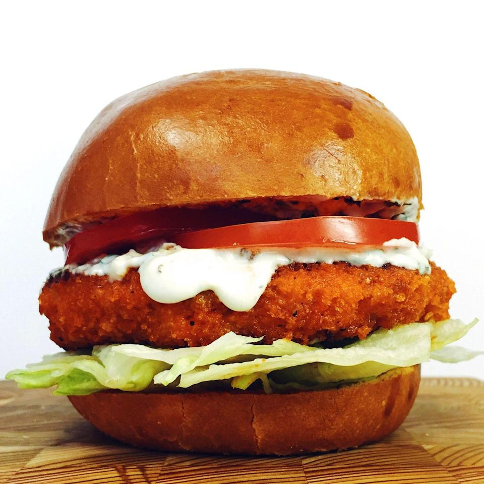 """<p>For those Buffalo chicken addicts out there (acceptance is the first step), this burger might be a serious roadblock on your way to recovery.</p><p>Get the recipe from <a href=""""https://www.delish.com/cooking/recipe-ideas/recipes/a42786/buffalo-chicken-burger-blue-cheese-ranch/"""" rel=""""nofollow noopener"""" target=""""_blank"""" data-ylk=""""slk:Delish"""" class=""""link rapid-noclick-resp"""">Delish</a>.</p>"""