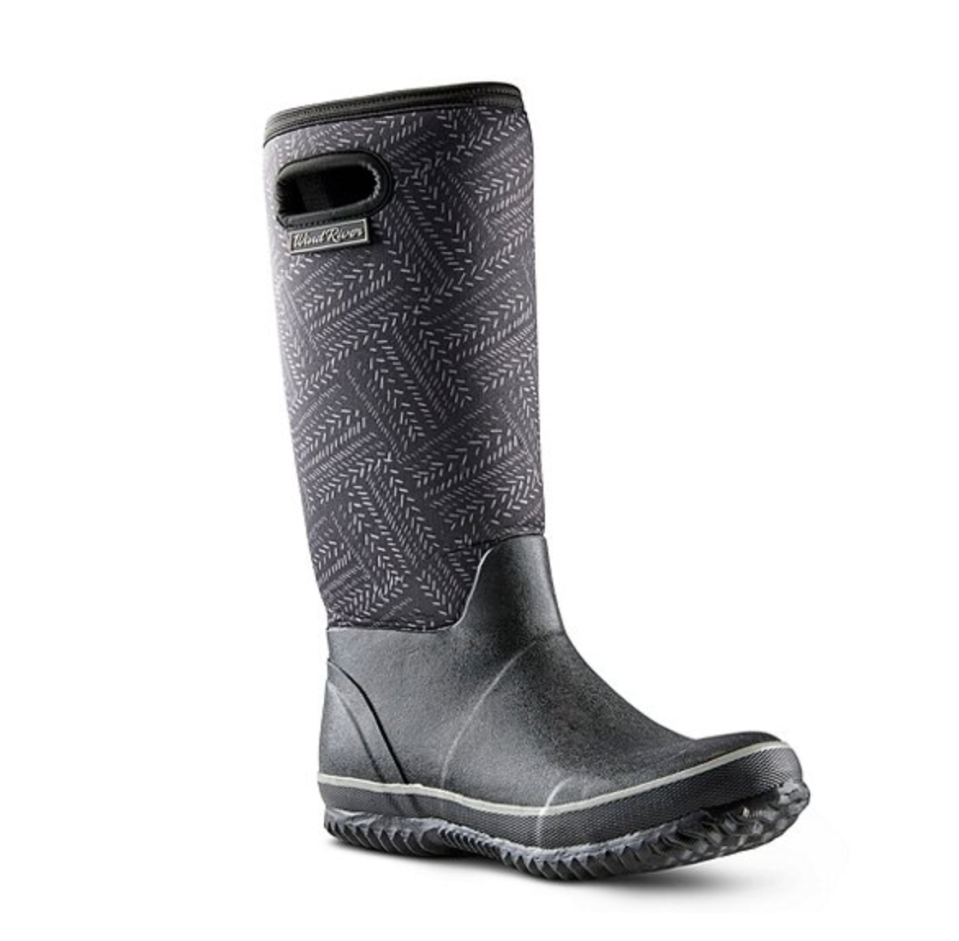 Women's Storm Neoprene Tall Rubber Boots. Image via Mark's.