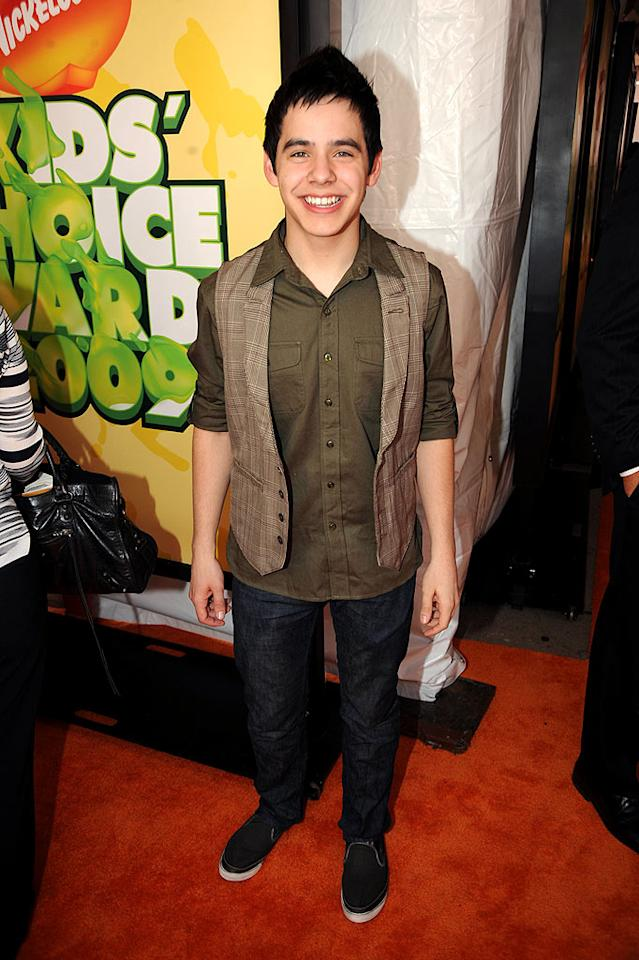 """David Archuletta arrives at """"Nickelodeon's 2009 Kids' Choice Awards"""" at UCLA's Pauley Pavilion on March 28, 2009 in Westwood, California."""