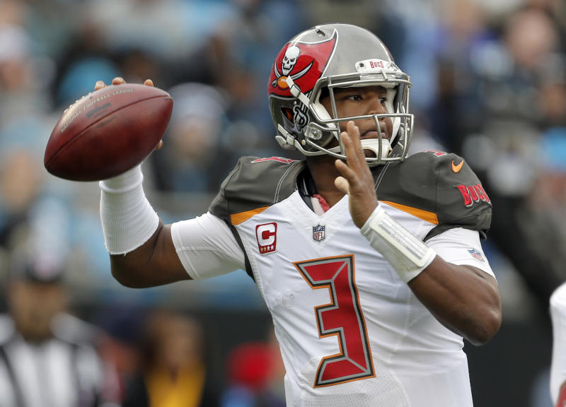 Jameis Winston has been suspended for three games this season. (AP)