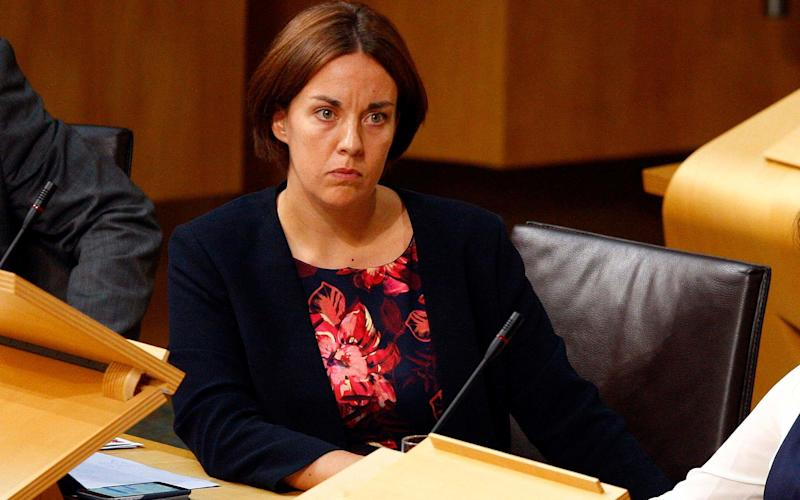 Kezia Dugdale's Scottish Labour MSPs will vote against a second referendum - Credit: PA
