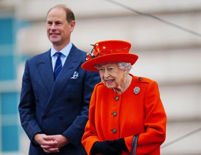 The Queen with the Earl of Wessex