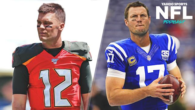 Tom Brady & Philip Rivers reportedly made agreements to sign with te Tampa Bay Buccaneers and Indianapolis Colts on Tuesday. Charles Robinson & Terez Paylor break down the historic moves on the latest Yahoo Sports NFL Podcast. (Amber Matsumoto/Yahoo Sports)