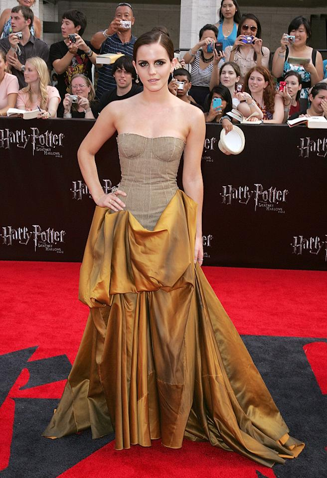 """<a href=""""http://movies.yahoo.com/movie/contributor/1802866081"""">Emma Watson</a> at the New York City premiere of <a href=""""http://movies.yahoo.com/movie/1810004624/info"""">Harry Potter and the Deathly Hallows - Part 2</a> on July 11, 2011."""