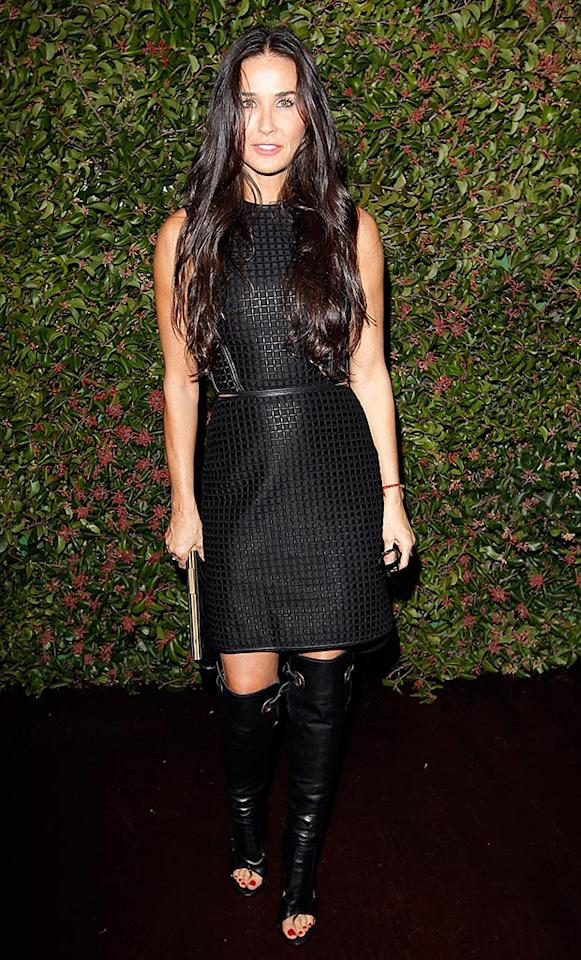 LOS ANGELES, CA - JANUARY 24:  Actress Demi Moore attends the Ferragamo presentation Spring Summer Runway Collection with VIP dinner, hosted by Jacqui Getty and Harpers BAZAAR at Chateau Marmont on January 24, 2013 in Los Angeles, California.  (Photo by Donato Sardella/WireImage)