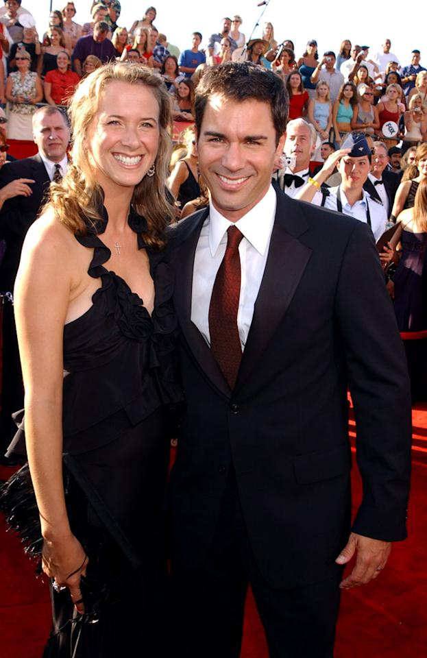 Eric McCormack and wife, Janet Holden at The 55th Annual Primetime Emmy Awards.