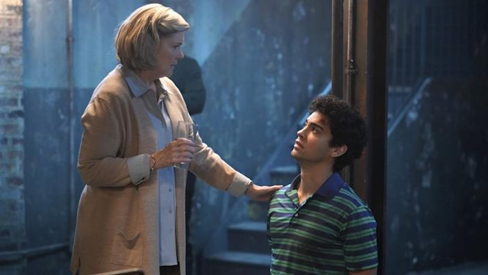 """Tell Me a Story -- The CW TV Series, Tell Me A Story -- """"Chapter 8: Truth"""" -- Image Number: TMA108_114129_3612b.jpg -- Pictured (L-R): Debra Monk as Esther and Davi Santos as Gabe -- Photo: Patrick Harbron/CBS © 2020 CBS Interactive. All Rights Reserved. Debra Monk and Davi Santos in """"Tell Me a Story"""" on The CW."""