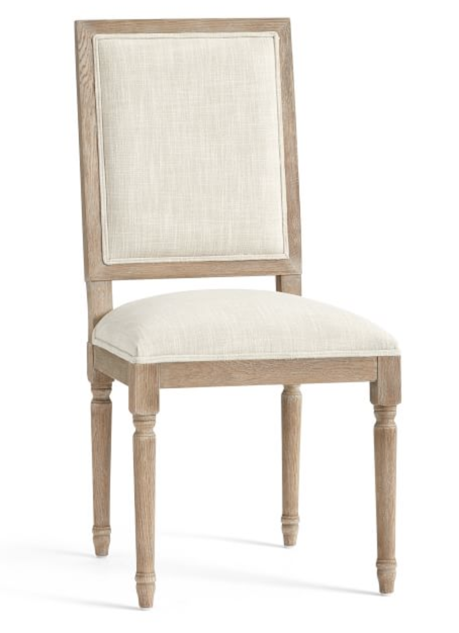 """<p><strong>Pottery Barn</strong></p><p>potterybarn.com</p><p><strong>$399.00</strong></p><p><a href=""""https://go.redirectingat.com?id=74968X1596630&url=https%3A%2F%2Fwww.potterybarn.com%2Fproducts%2Flouis-square-desk-chair%2F&sref=https%3A%2F%2Fwww.veranda.com%2Fhome-decorators%2Fg33567403%2Fstylish-desk-chairs%2F"""" rel=""""nofollow noopener"""" target=""""_blank"""" data-ylk=""""slk:Shop It"""" class=""""link rapid-noclick-resp"""">Shop It</a></p><p>A great chair with a classic design, <a href=""""https://www.potterybarn.com/"""" rel=""""nofollow noopener"""" target=""""_blank"""" data-ylk=""""slk:Pottery Barn's"""" class=""""link rapid-noclick-resp"""">Pottery Barn's</a> Louis desk chair is the perfect low-profile option to fit in any style room. It also comes in a black finish and could easily be reupholstered for a more custom look.</p>"""
