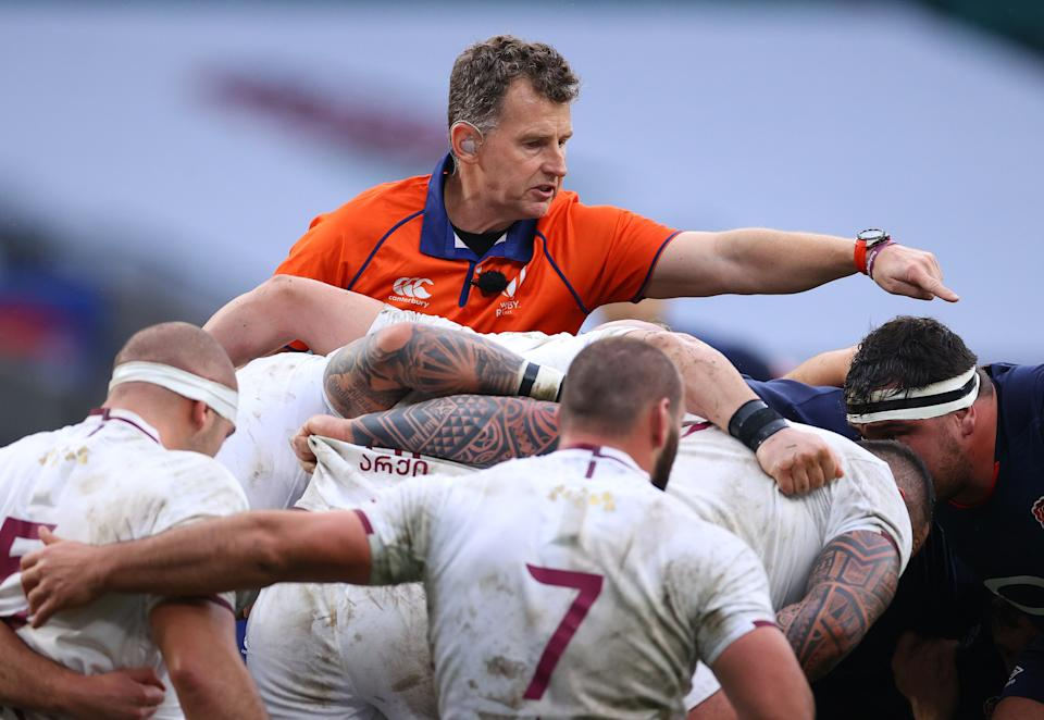 Nigel Owens will referee his 100th Test match this weekendGetty